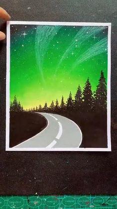 Oil Pastel Drawings Easy, Oil Pastel Paintings, Oil Pastel Art, Crayon Painting, Canvas Painting Tutorials, Crayon Art, Easy Canvas Art, Mini Canvas Art, Art Painting Gallery