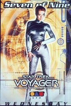 Seven of Nine: Star Trek Voyager Year of Poster: 2000s Autographed ...