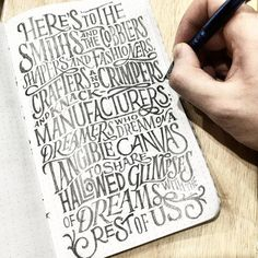 Hand-Lettering Designs by Dan Lee | From up North