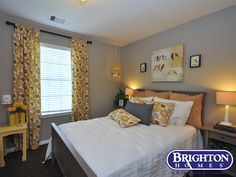 #soft #calming #bird inspired #guestroom in our Easton Model Home | Brighton Homes® |  www.brightonhomes.com