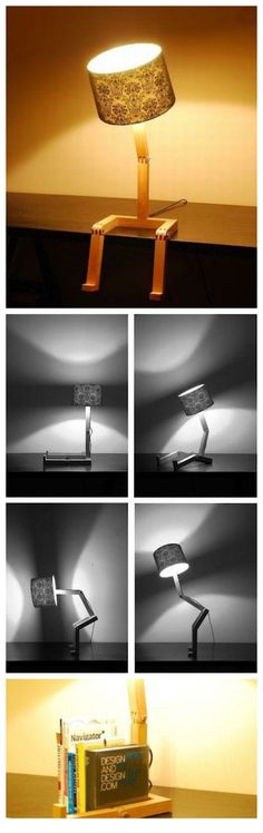 A lamp can sit, stand and even dance, have you seen it?  https://www.facebook.com/HaHaMedia