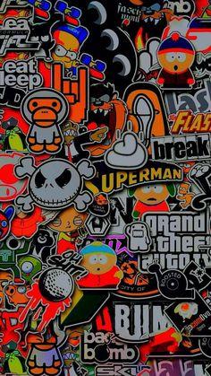 Graffiti Wallpaper Iphone, Crazy Wallpaper, Cartoon Wallpaper Hd, Hippie Wallpaper, Wallpaper Space, Aesthetic Iphone Wallpaper, Galaxy Wallpaper, Mobile Wallpaper, Wallpaper Backgrounds