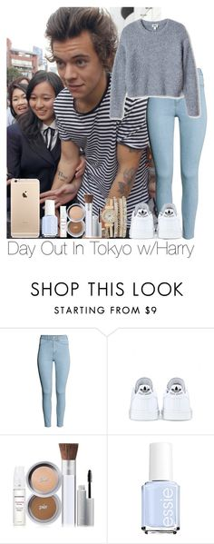 """Day Out In Tokyo w/Harry"" by jameyc ❤ liked on Polyvore featuring H&M, adidas, PurMinerals, Essie and maurices"