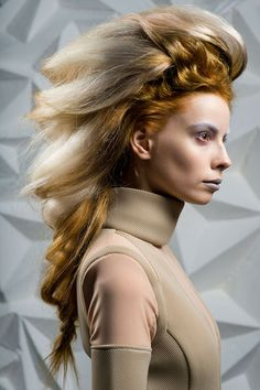 Autumn/Winter Borderline Beauty: This unpredictably punk Haute Couture look was created by Wella Professionals' Dmitry Vinokurov, trailblazing beyond the boundaries and creating an unexpected alien aesthetic.
