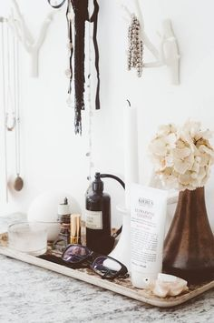 Vanity. From the Living With Kids Home Tour featuring Tina Fussell.  |  Design Mom
