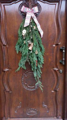 Tür Deko Weihnachten selfmade