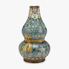 A Chinese cloisonné enamel gilt-bronze Triple-gourd Vase, Republic Period. H: 15 1/4 in., 39 cm. PROVENANCE: Property from a private Maryland collection