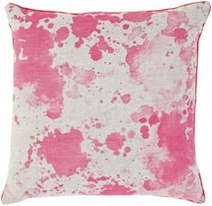 Bonnie + Neil Neon Pink Linen Splatter Pillow