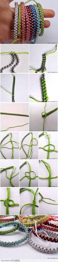 How to make Rainbow Friendship Bracelets step by step D…