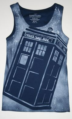2e7521851 Girls Navy Blue Doctor Who Tardis Tank Top by MyFriendsAreBooks Doctor Who  Gifts, Diy Doctor