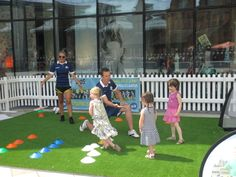 Sports for Kids join Woking Shopping on the lawn, Jubilee Square for an action packed afternoon of ball games for kids of all ages.  #Shopping #Woking #Surrey #Sports #Summer.