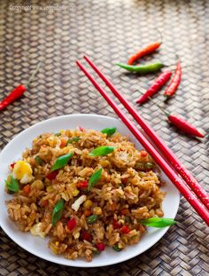 Egg Fried Rice.    With some substitutions, this would work for Sir and I. I'd love to do a good Fried Rice with Egg. Love it!