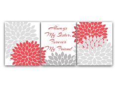 """Sisters Wall Art with Quote """"Always My Sister, Forever My Friend"""" - Instant Download Wall Art"""