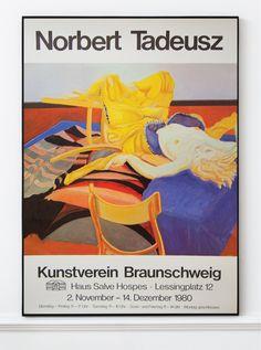 Norbert Tadeusz - Original Artist Poster 1980 – Art & Vintage Store Ltd Vintage Prints, Vintage Posters, Original Vintage, Exhibition Poster, Fine Art Prints, Poster Prints, Museum, Printed, The Originals