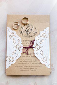 Virginia Winter Church Wedding  Wedding Invitations Photos on WeddingWire