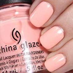 China Glaze Pack Lightly is a sweet, pinky peach with tonal shimmer. Its an interesting color in that its not quite peach, not quite pink  China Glaze Pack Lightly Spring 2015 via @alllacqueredup