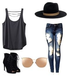 """Cool kid"" by nerdypanda777 ❤ liked on Polyvore featuring Kavu, JustFab, Linda Farrow and Janessa Leone"