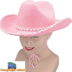 WILD WEST PINK COWBOY HAT WITH SEQUINS Ladies Fancy Dress Costume Accessory  | eBay