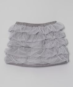 Heather Gray Ruffle Tiered Skirt by Millions of Colors #zulily #zulilyfinds