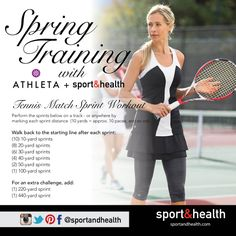 This sprint workout will prepare you for even the toughest tennis match! Workout courtesy of Jack Schore Tennis, located at Regency Sport&Health.