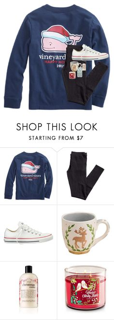 """""""I wish it was still Christmas time!! """" by emmalw02 ❤ liked on Polyvore featuring Vineyard Vines, H&M, Converse, Glory Haus, philosophy and Casetify"""