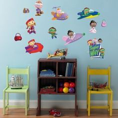 SUPER WHY 18 BiG Wall Stickers PBS KIDS Room Decor Decals PRINCESS ALPHA PIG DOG