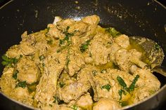 Chicken White Karahi- it was okay it lacked flavor so I added half tsp of ground cumin and coriander powder and 2 tbsp of chicken Handi masala and 4 cloves. As I din't have green onion at hand I added cilantro and also added 1 tbsp of dried methi leaves Chicken Handi, Sauce For Chicken, Chicken Recipes, Recipe Chicken, Indian Chicken Dishes, Indian Dishes, Chef Recipes, Cooking Recipes, Eid Recipes