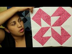 How to make a Half Square Triangle block- Block#7 of 12- Video Quilt Along