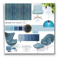 """""""Decorate with Color"""" by fassionista ❤ liked on Polyvore featuring interior, interiors, interior design, home, home decor, interior decorating, Rove Concepts, Kartell, Softline and Bobby Berk Home"""
