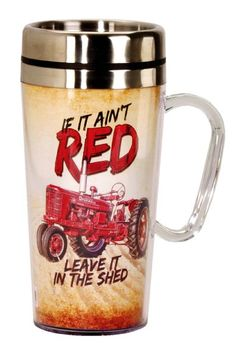 Spoontiques Farmall if it Ain't Red Insulated Travel Mug, Off White Farmall Tractors, John Deere Tractors, Case Tractors, Farm Humor, Red Tractor, Insulated Cups, Mugs For Sale, Case Ih, Down On The Farm