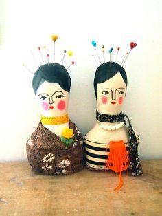 Soft sculpture display doll primitive folk by JessQuinnSmallArt