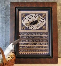 Anna's Bird  counted cross stitch patterns by thecottageneedle, $9.00