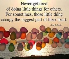 And it's fun to do things for others.