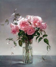 Floral painting by Australian artist Jill Kirstein