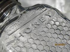 Vintage Lake Shore Honey Serving Bottle, Embossed Honey Comb pattern. $9.00, via Etsy.