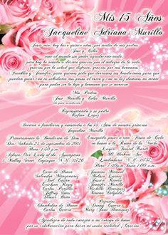 Invitación para 15 Años con Rosas #Sweet15 #15anos #quinceanera