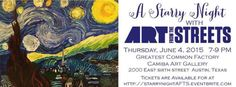 Our Fundraiser June 4th 7pm to 9pm buy your tickets at: http://www.eventbrite.com/e/a-starry-night-with-art-from-the-streets-tickets-16717611827?aff=es2