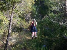 Zip lining in the TX Hill Country.