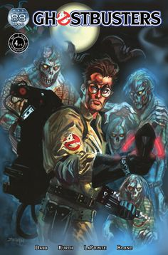 A Ghostbusters comic book cover featuring the one and only Egon (new). <3 him.