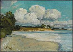 On the Lake Shore Near Bronte, 1909 J. E. H. MacDonald  Be Sure To Visit:  http://universalthroughput.imobileappsys.com/