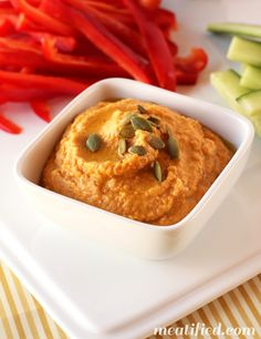 No Bean Paleo Pumpkin Hummus; Guest Post from Meatified - The Paleo Mama #21DSD