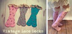 Darling Floral Vintage Lace Socks! at VeryJane.com