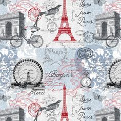 Grab your passports, we're headed to the City of Love with this new Parisian collection from Whistler Studios! Mix and match keys to the city with classic fleur-de-lis and tossed Eiffel towers for that special 'je ne sais quoi. Quilting Projects, Sewing Projects, Timeless Treasures Fabric, Windham Fabrics, Cotton Quilting Fabric, Fabric Design, Vintage World Maps, Arts And Crafts, Quilts