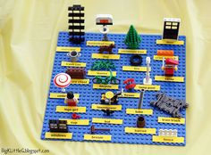 LEGO Memory Game - Put 25 LEGO pieces on a board and label them; give kids few minutes to memorize them. Take the board away and have them write down as many pieces as they can remember.