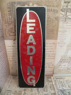 Vintage Metal Leading Sign Metal Garage Sign by oZdOinGItagaiN, $30.00