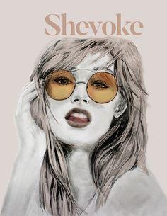 Shevoke concept illustration Round Sunglasses, Concept, Illustration, Fashion, Moda, Round Frame Sunglasses, Fashion Styles, Illustrations, Fashion Illustrations