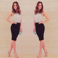 #fashion #style #ootd #gabimay #blogger #moda #estilo #lookdodia #instagram #pencilskirt #saialápis #croppedtop