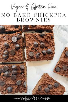 Looking for a healthier alternative to the traditional brownie? Try my high protein, vegan, chickpea brownies for a satisfying snack or dessert. These are gluten free, contain no refined sugar, vegan, grain free and no-bake! Perfect for the summer when the last thing you wanna do is turn the oven on. #vegan #glutenfree #grainfree #dessert #healthydessert #healthyfood #dairyfree #brownie #nobake