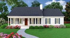 <ul><li>This split bedroom country ranch house plan features a spacious great room and an open floor plan.</li><li>The master suite looks out across the back porch and the back yard.</li><li>The kitchen and dining area are separated by a luncheon counter great for casual meals.</li><li>The side entry garage has built-in storage to reduce clutter.</li><li>Expand downstairs with the basement option.</li>&...