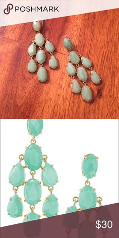 Stella and Dot Chandelier Earrings Only worn once or twice. Great condition. Backs come with. Stella & Dot Jewelry Earrings